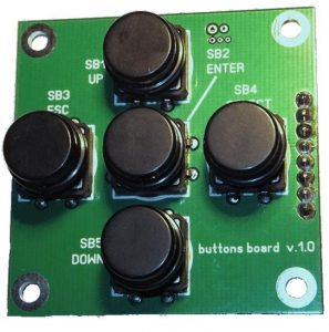SimACo controller buttons board top view